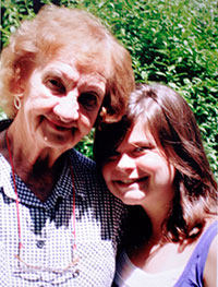 Aunt Kay and Emma - her home is a place where you always find comfort