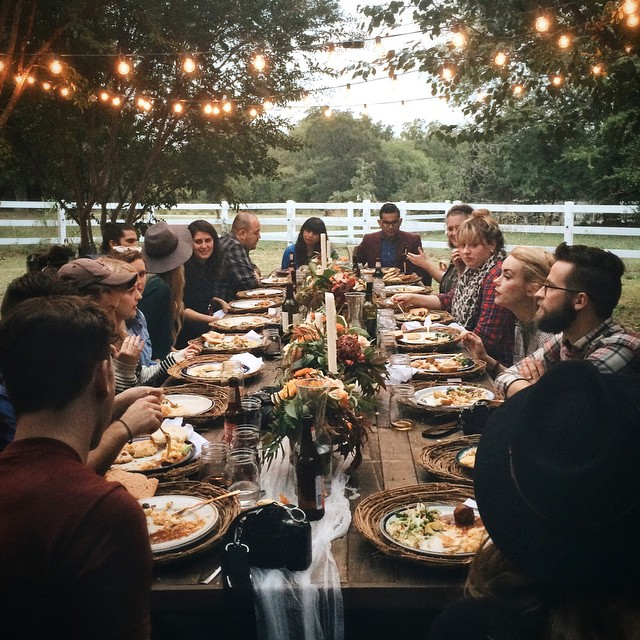 Thanksgiving Dinner Outdoors