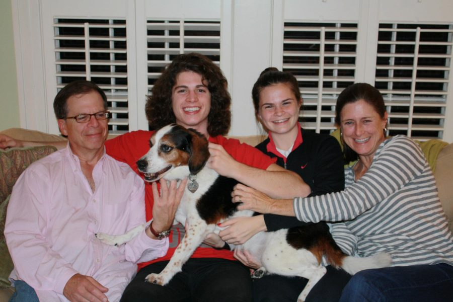 My Family with our Dog Clarissa in 2013