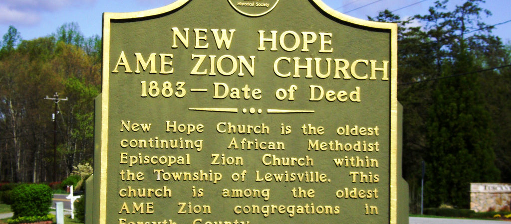 Historic Marker New Hope AME Zion Church Historic Marker